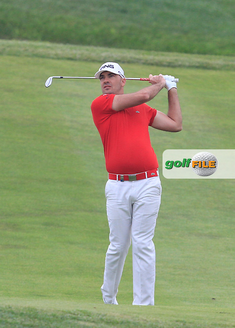 Gregory Havret (FRA) on the 12th fairway during Round 1 of the Open de Espana  in Club de Golf el Prat, Barcelona on Thursday 14th May 2015.<br /> Picture:  Thos Caffrey / www.golffile.ie
