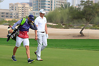 Nacho Elvira (ESP) on the 3rd during Round 1 of the Omega Dubai Desert Classic, Emirates Golf Club, Dubai,  United Arab Emirates. 24/01/2019<br /> Picture: Golffile | Thos Caffrey<br /> <br /> <br /> All photo usage must carry mandatory copyright credit (&copy; Golffile | Thos Caffrey)
