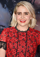 WESTWOOD, CA - OCTOBER 01: Mae Whitman attends the Premiere Of Columbia Pictures' 'Venom' at Regency Village Theatre on October 1, 2018 in Westwood, California.<br /> CAP/ROT/TM<br /> ©TM/ROT/Capital Pictures