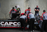 Jun. 3, 2012; Englishtown, NJ, USA: Crew members for NHRA top fuel dragster driver Steve Torrence during the Supernationals at Raceway Park. Mandatory Credit: Mark J. Rebilas-