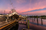 CARRABELLE, FL - OCTOBER 12: Wrecked boats from Hurricane Michael sit at The Moorings marina on October 12, 2018 in Carrabelle, Florida. (Photo by Mark Wallheiser/Getty Images)