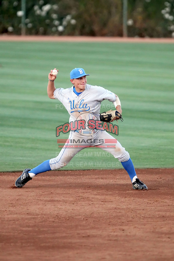 Pat Valaika #10 of the UCLA Bruins plays against the Arizona State Sun Devils on May 27, 2011 at Packard Stadium, Arizona State University, in Tempe, Arizona. .Photo by:  Bill Mitchell/Four Seam Images.