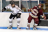 Joe Lavin (Providence 11), Joe Whitney (BC 15) - The Boston College Eagles and Providence Friars played to a 2-2 tie on Saturday, March 1, 2008 at Schneider Arena in Providence, Rhode Island.