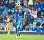Wes Foderingham applauding the Rangers fans at the end