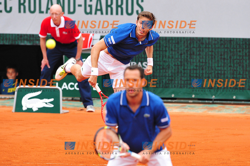 Michael Llodra (Fra) / Nicolas Mahut (Fra) <br /> Parigi 8/6/2013<br /> Tennis Roland Garros <br /> Finale doppio uomini <br /> Foto Panoramic / Insidefoto<br /> ITALY ONLY