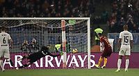 Football, Serie A: AS Roma - InterMilan, Olympic stadium, Rome, December 02, 2018. <br /> Roma's Aleksandar Kolarov kicks a penalty and scores  during the Italian Serie A football match between Roma and Inter at Rome's Olympic stadium, on December 02, 2018.<br /> UPDATE IMAGES PRESS/Isabella Bonotto