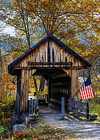 The Cilleyville Bog Covered Bridge, Andover, New Hampshire, USA.