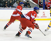 Petr Straka  (Czech Republic - 11), Oldrich Horak (Czech Republic - 4) - Sweden defeated the Czech Republic 4-2 at the Urban Plains Center in Fargo, North Dakota, on Saturday, April 18, 2009, in their final match of the 2009 World Under 18 Championship.