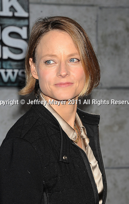 WESTWOOD, CA - DECEMBER 06: Jodie Foster attends the Los Angeles premiere of 'Sherlock Holmes: A Game Of Shadows' at Regency Village Theatre on December 6, 2011 in Westwood, California.