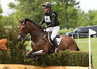 LEXINGTON, KY - April 29, 2017.  #60 Vandiver and Doug Payne finish in 7th place after completeing the Cross Country Course at the Rolex Three Day Event at the Kentucky Horse Park.  Lexington, Kentucky. (Photo by Candice Chavez/Eclipse Sportswire/Getty Images)
