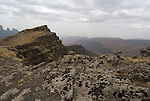 Rocky Escarpment, Simien Mountains National Park, Ethiopia.Africa....