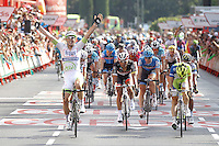 09/09/2012 Madrid Spain, Stage 21 Alberto Contador proclaimed official winner of the Tour of Spain. to the last stage John Degenkolb won the fifth stage triumph Argos team rider. The photo shows 191 - DEGENKOLB John (GER) TEAM ARGOS - SHIMANO (ARG)