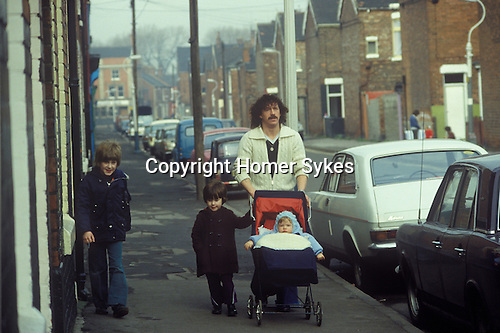 Hull Humberside, northern England. Hessle Road area, a working class neighbourhood. 1980s UK.