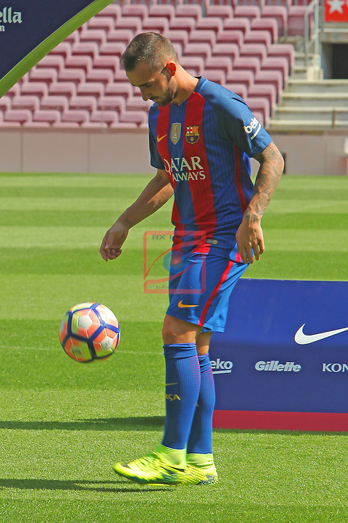 League Santander 2016/2017.<br /> Paco Alcacer presented as new player of FC Barcelona.