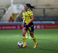 13th February 2020; Deva Stadium, Chester, Cheshire, England; Womens Super League Football, Liverpool Womens versus Arsenal Womens;  Katie McCabe of Arsenal Women