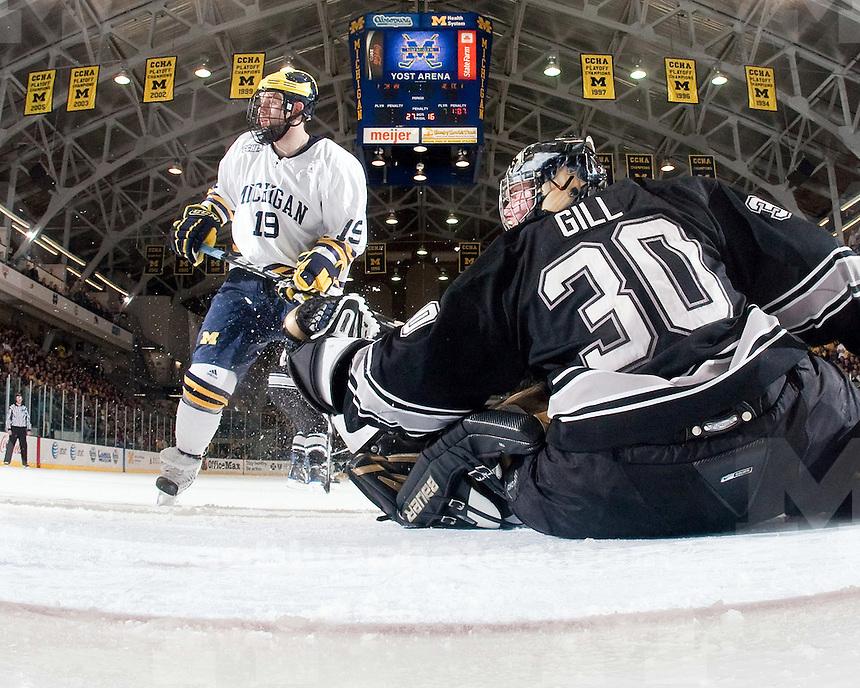 1/9/2010 Michigan vs. Western Michigan ice hockey at Yost Arena.  U-M won 6-1.