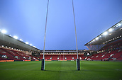 23rd March 2018, Ashton Gate, Bristol, England; RFU Rugby Championship, Bristol versus Yorkshire Carnegie; General View of Ashton Gate set up for rugby under lights