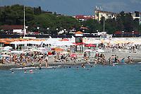 Blick auf Olympic Beach - 24.06.2017: Strand Olympic Beach in Sotschi am Fisht Stadium