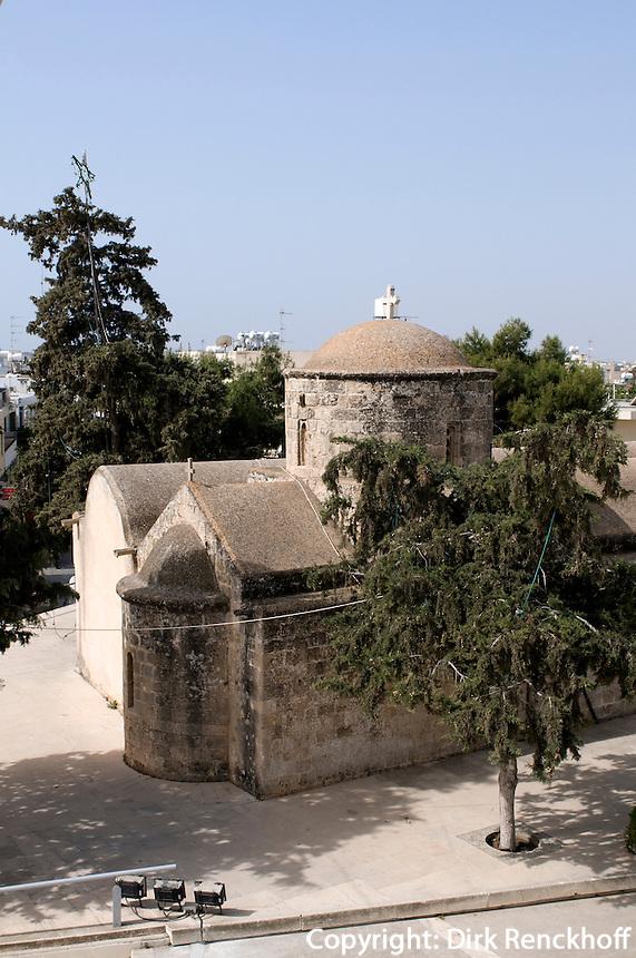 Zypern (Süd), Panagia Agia Anna in Paralimni, Kiche aus fränkischer Zeit am Dorfplatz