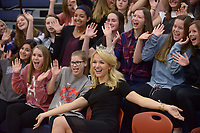 NWA Democrat-Gazette/BEN GOFF @NWABENGOFF<br /> Miss America Savvy Shields of Fayetteville poses for photos with students Monday, May 1, 2017, during a presentaiton with Gov. Asa Hutchinson at Fulbright Junior High in Bentonville to kick off a new initiative called 'Healthy Active Arkansas.'