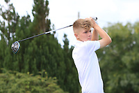 Josh Black (Lisburn) on the 10th tee during the Final round in the Connacht U16 Boys Open 2018 at the Gort Golf Club, Gort, Galway, Ireland on Wednesday 8th August 2018.<br /> Picture: Thos Caffrey / Golffile<br /> <br /> All photo usage must carry mandatory copyright credit (&copy; Golffile | Thos Caffrey)