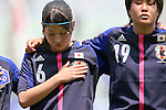 (L to R) Ayu Nakata (JPN), Ayaka Michigami (JPN), .JUNE 17, 2012 - Football / Soccer : .International Friendly match between .Japan 1-0 U.S.A.at Nagai Stadium, Osaka, Japan. (Photo by Akihiro Sugimoto/AFLO SPORT) [1080]