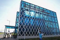 AETHIOPIEN, Hawassa, Industriepark, gebaut durch chinesische Firmen fuer die ethiopische Regierung um die Hallen fuer Textilbetriebe von Investoren zu vermieten | ETHIOPIA , Southern Nations, Hawassa or Awasa, Hawassa Industrial Park, chinese-built for the ethiopian government to attract foreign investors with low rent and tax free to establish a textile industry and create thousands of new jobs | [ copyright (c) Joerg Boethling , Veroeffentlichung nur gegen Honorar zzgl. 7% Mwst. und Belegexemplar an: Joerg Boethling   Rothestr. 66   D-22765 Hamburg  GERMANY  tel. +49 40 380 89 359 14   e-mail: info@visualindia.de  , WEITERE MOTIVE ZU DIESEM THEMA ZUM HI-RES DOWNLOAD auf: www.visualindia.de ] [#0,26,121#]