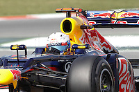 12.05.2012. Circuit de Catalunya, Montmeol, Spain, One the 3rd Practice Session. Picture show  Sevastian Vettel (German driver of Red Bull)