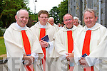 Fr Bernard Healy St John Tralee, Fr Michael Moynihan Glengarriff, Fr Padraig Kennelly Tralee and Fr Tadhg Fitzgerald Ardfert at the Ordination of the Bishop of Kerry in St Mary's Cathedral on Sunday