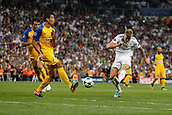 13th September 2017, Santiago Bernabeu, Madrid, Spain; UCL Champions League football, Real Madrid versus Apoel; Toni Kroos (8) Real Madrid with a shot past Jesus Rueda (5) Apoel