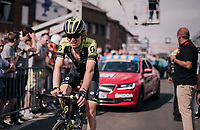 Jack Haig (AUS/Michelton-Scott) rolling in 14th at the finish<br /> <br /> 104th Li&egrave;ge - Bastogne - Li&egrave;ge 2018 (1.UWT)<br /> 1 Day Race: Li&egrave;ge - Ans (258km)