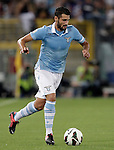 Calcio, Serie A: Lazio vs Genoa. Roma, stadio Olimpico, 23 settembre 2012..Lazio midfielder Antonio Candreva in action during the Italian Serie A football match between Lazio and Genoa at Rome's Olympic stadium, 23 September 2012..UPDATE IMAGES PRESS/Riccardo De Luca