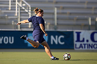 Cary, North Carolina  - Saturday August 05, 2017: Laura Harvey prior to a regular season National Women's Soccer League (NWSL) match between the North Carolina Courage and the Seattle Reign FC at Sahlen's Stadium at WakeMed Soccer Park. The Courage won the game 1-0.