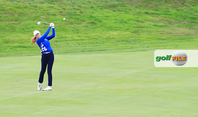 Mathilda Cappeliez (EUR)during Practice on Wednesday at the 40th Ryder Cup, The Gleneagles Hotel, Perthshire from 26th to 28th September 2014<br /> Picture Thos Caffrey, www.golffile.ie