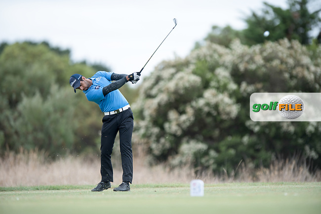 Aaron Rai (ENG) during the 2nd round of the VIC Open, 13th Beech, Barwon Heads, Victoria, Australia. 08/02/2019.<br /> Picture Anthony Powter / Golffile.ie<br /> <br /> All photo usage must carry mandatory copyright credit (&copy; Golffile | Anthony Powter)