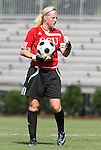 24 August 2008: Carolina's Honour Trosper. The Duke University Blue Devils defeated the Coastal Carolina University Lady Chanticleers 9-0 at Koskinen Stadium in Durham, North Carolina in an NCAA Division I Women's college soccer game.