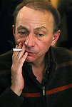 Avec Michel Houellebecque, prix Interallie 2005<br /> Jean Ferniot annonce le Prix.<br /> Michel Houellebecue avec son editeur Raphael Sorin.
