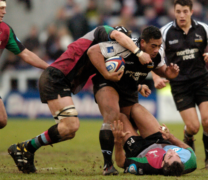 Photo. Jed Wee..Newcastle Falcons v NEC Harlequins, Zurich Premiership, Kingston Park, Newcastle. 04/01/2004..Newcastle's Epi Taione.