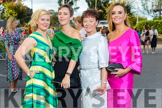 Stacey O'Leary (Kilcummin), Jordana Lambadarios (Templeglantine), Margaret O'Connor  (Abbeyfeale) and Tasha O'Connor (Templeglantine) at the Rose of Tralee fashion show at the dome on Sunday night.