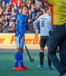 UTRECHT -  Boet Phijffer (Kampong)  tijdens de hoofdklasse hockeywedstrijd mannen, Kampong-Amsterdam (4-3). COPYRIGHT KOEN SUYK