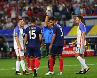 Arlington, TX - Saturday July 22, 2017: 	Giancarlo Gonzalez during a 2017 Gold Cup Semifinal match between the men's national teams of the United States (USA) and Costa Rica (CRC) at AT&T stadium.
