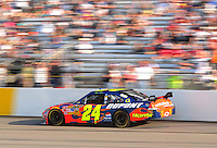 May 2, 2008; Richmond, VA, USA; NASCAR Sprint Cup Series driver Jeff Gordon during qualifying for the Dan Lowry 400 at the Richmond International Raceway. Mandatory Credit: Mark J. Rebilas-US PRESSWIRE
