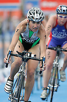 01 SEP 2007 - HAMBURG, GER - Vanessa Fernandes (POR) - Elite Womens World Triathlon Championships. (PHOTO (C) NIGEL FARROW)