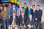 Micheal O'Muiracheartaigh with the Community Centre committee members at the official opening of the centre in Milltown on Sunday front row l-r: Don Myers, Micheal O'Muircheartaigh, Sr Conisius. Back row: Ml O'Shea, Joe Daly, Noel Spillane, Br John, Linus Burke, Michael McCarthy, Stuart Stephens and Jerry Casey
