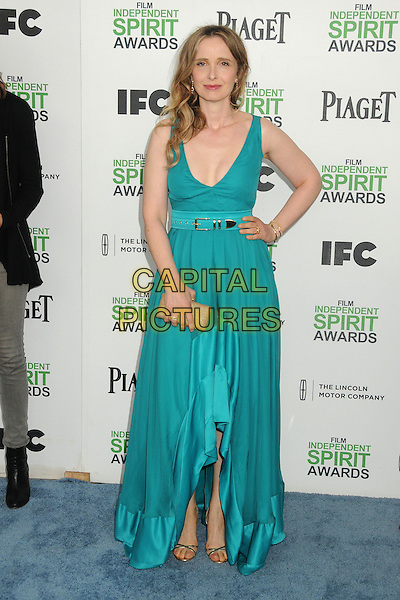1 March 2014 - Santa Monica, California - Julie Delpy. 2014 Film Independent Spirit Awards - Arrivals held at Santa Monica Beach. <br /> CAP/ADM/BP<br /> &copy;Byron Purvis/AdMedia/Capital Pictures