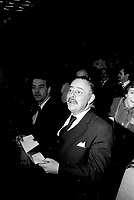 Jacques Parizeau attend the Parti Quebecois' Conseil National Extrordinaire at Montreal's convention centre, January 18 and 19, 1985.<br /> <br /> File Photo : Agence Quebec Presse - Pierre Roussel