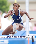 The Gazette Eleanor Roosevelt's Takecia Jameson runs the 4A 300 meter hurdles placing first overall  with a time of  41.79 seconds breaking a new Maryland State record during the Maryland State Track and Field Championships on Saturday afternoon at Morgan State University in Baltimore.