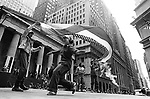 A group dancing in front of Wall Street building in Manhatten, New York. Photo by Jim Peppler. Copyright/Jim Peppler/.
