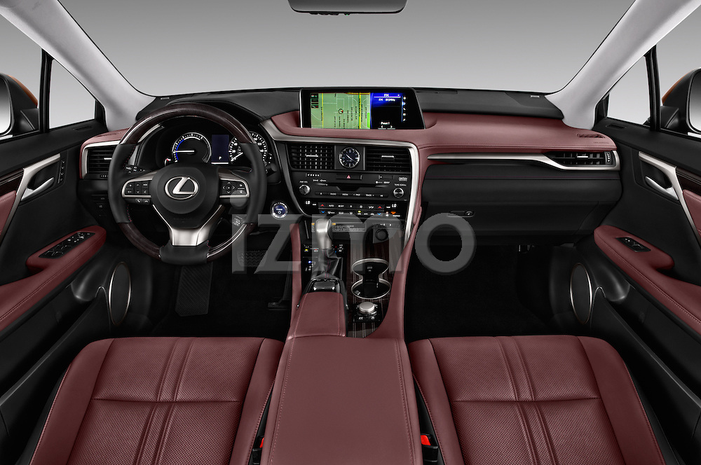 Stock photo of straight dashboard view of 2016 Lexus RX Privilege Line 5 Door Suv Dashboard