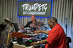 Keyboard ace Mel Davis rocked Trumpets Jazz Club during a special July 4th show.